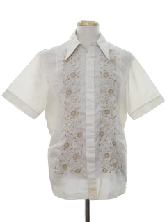 1970's Mens Embroidered Hippie Shirt