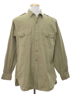 1960's Mens Military Shirt