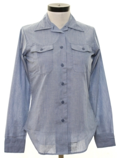 1970's Womens Chambray Work Shirt