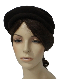 1950's Womens Accessories - Wool Hat