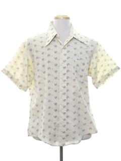 1970's Mens Mod Print Shirt