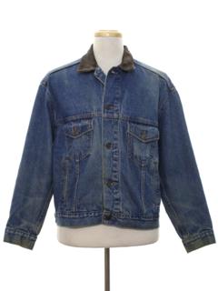 1980's Mens Grunge Denim Jacket
