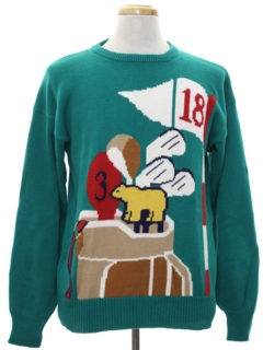 1980's Mens Ugly Golf Sweater