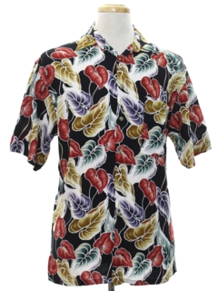 1980's Mens Designer Hawaiian Shirt