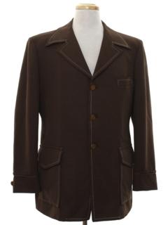 1970's Mens Mod Leisure Style Blazer Sport Coat Jacket