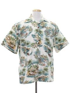 1980's Mens Totally 80s Designer Hawaiian Shirt
