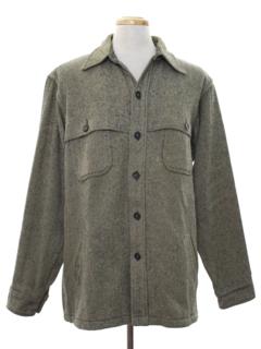 1980's Mens Wool CPO Style Shirt Jacket