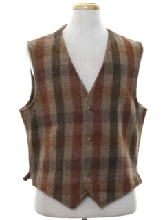 1980's Mens Wool Vest