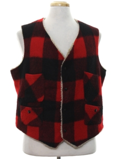 1980's Mens Wool Hunting Style Vest