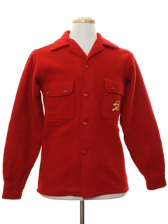 1960's Mens Wool Boyscout Shirt