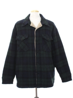 1990's Mens Wool CPO Style Shirt Jacket