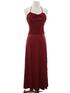 1980's Womens/Girls Prom Or Cocktail Maxi Dress
