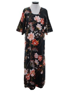 1970's Womens Hawaiian Muu Muu Style Dress