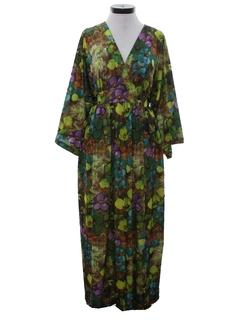 1970's Womens Hawaiian Muu Muu Style Dress