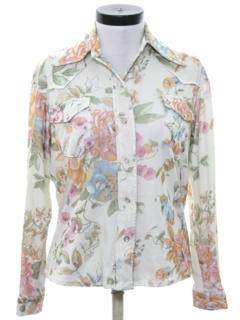 1970's Womens Print Western Shirt