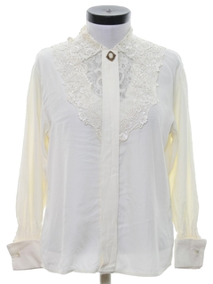 1980's Womens Lace Secretary Shirt