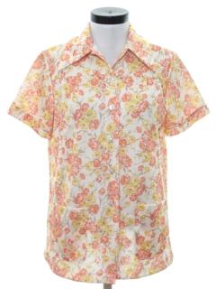 1970's Womens Print Shirt