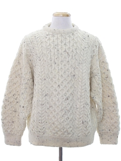 1980's Mens Totally 80s Cable Knit Sweater
