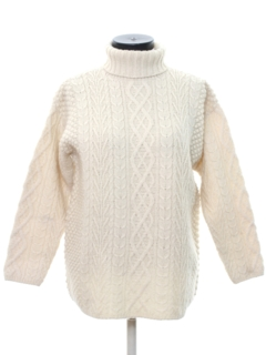 1980's Womens Cable Knit Sweater