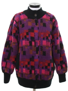 1980's Womens Totally 80s Sweater Jacket