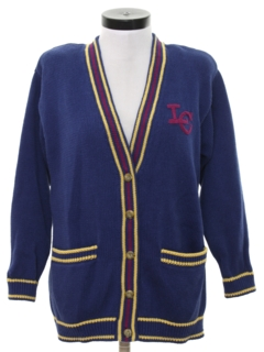 1980's Womens Preppy Cardigan Sweater