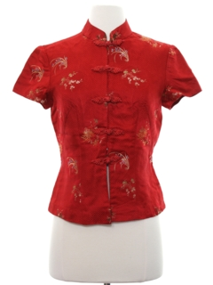 1980's Womens Asian Inspired Print Shirt