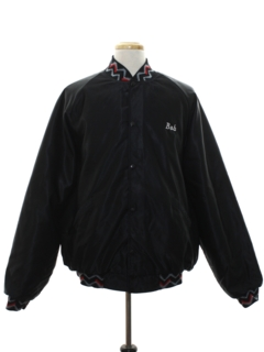 1980's Mens Satin Baseball Style Jacket