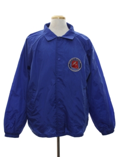1980's Mens Wind Breaker Work Style Snap Jacket
