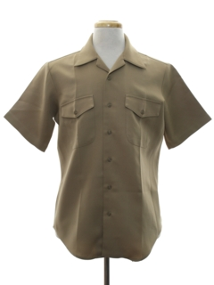 1970's Mens Work Style Military Shirt