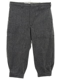 1980's Mens Jodhpur Style Wool Ski Pants