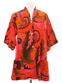 1960's Womens Mod Hawaiian Shirt