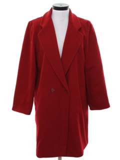 1980's Womens Wool Coat Overcoat Jacket