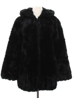 1960's Womens Faux Fur Coat Jacket