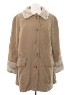 1960's Womens Mod Car Coat Jacket