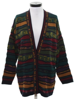 1980's Womens Totally 80s Style Oversized Cardigan Sweater