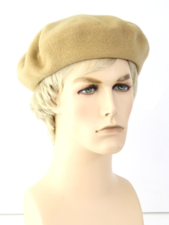 1980's Mens Accessories - French Wool Beret Hat