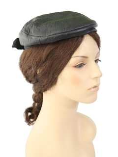 1960's Womens Accessories - Mod Leather Hat