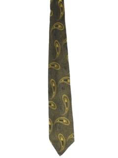 1960's Mens Mod Paisley Necktie