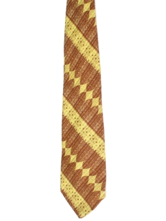 1960's Mens Wide Abstract Geometric Necktie