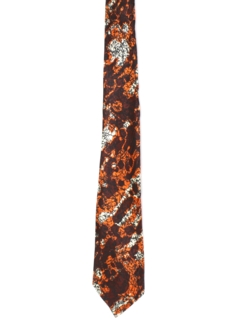 1960's Mens Mod Abstract Necktie