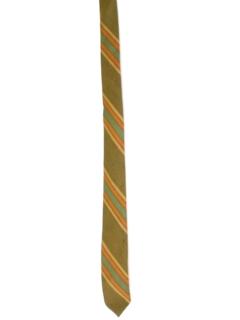 1950's Mens Skinny Diagonal Necktie