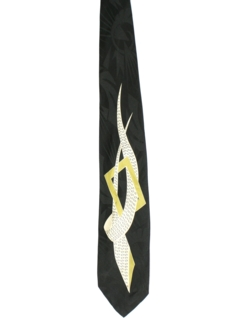 1980's Mens Abstract Swing Necktie