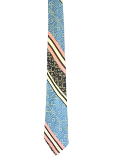1960's Mens Abstract Geometric Necktie