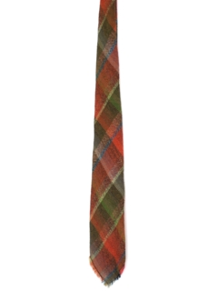 1960's Mens Plaid Wool Necktie