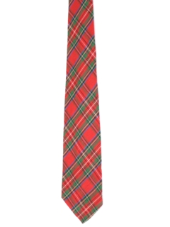 1960's Mens Plaid Necktie