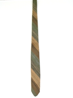 1950's Mens Diagonal Striped Skinny Necktie