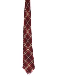 1960's Mens Mod Wool Necktie
