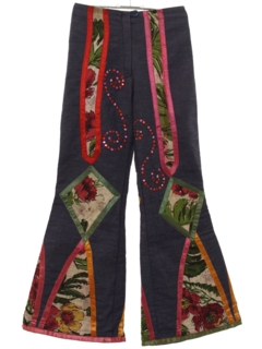1970's Womens Designer Bellbottom Jeans Pants