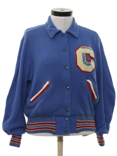 1950's Womens Varsity Cheerleading  Sweater