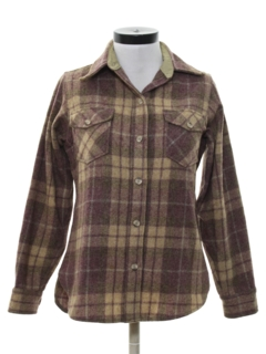 1980's Womens Wool Shirt